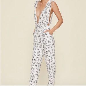 FINAL SALE: LPA Black and White Floral Jumpsuit